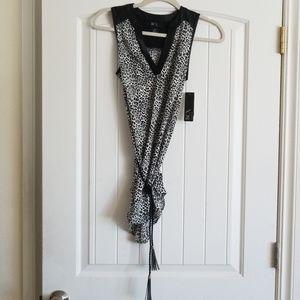 BCX leopard print sleeveless top
